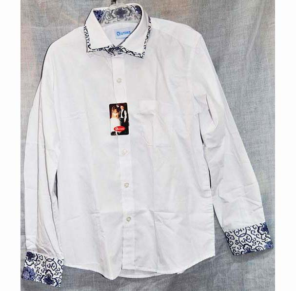 chemise blanche gar on 100 coton durrell marketdurrell market. Black Bedroom Furniture Sets. Home Design Ideas