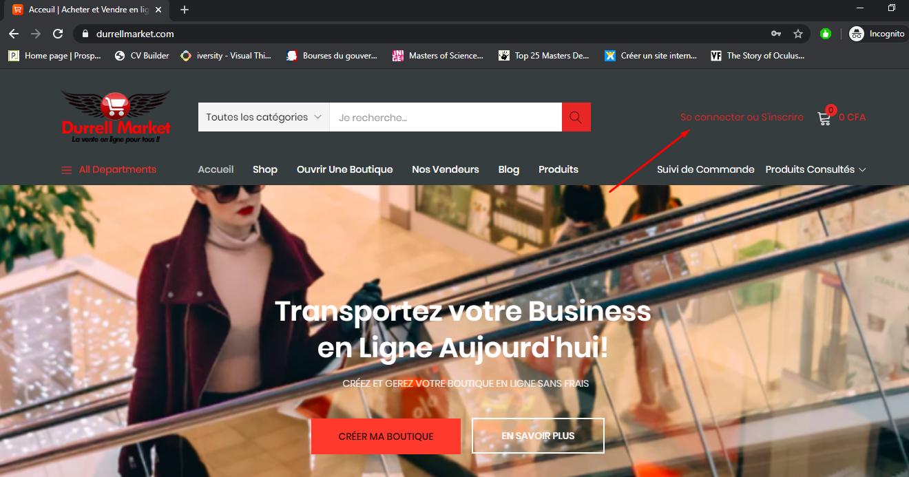Comment créer votre propre boutique en ligne sur Durrell Market?